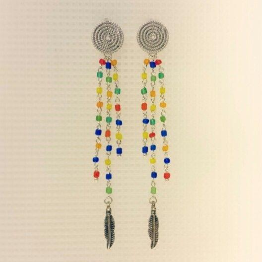 Серьги; материал: бисер, металл, пуссеты из латуни с матовым родиевым покрытием. #серьги #хендмейд #handmade #earrings #украшения #украшенияручнойработы #handmadejewelry #jewelry #jewellery
