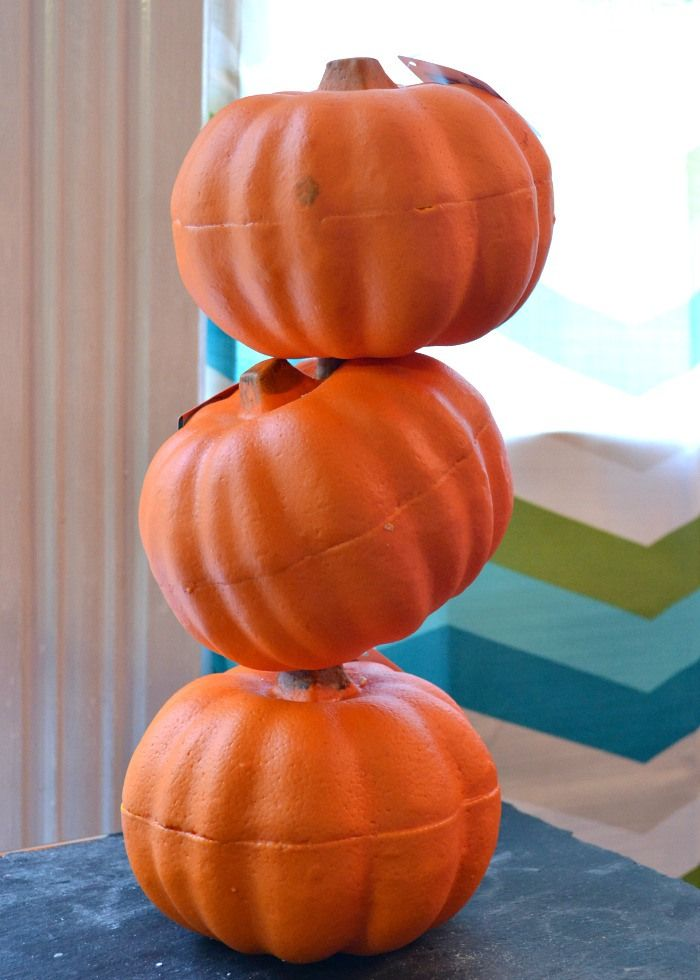 How to make a pumpkin tipsy topiary