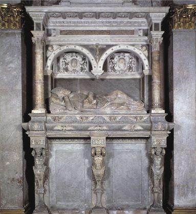 Nagrobek biskupa Feliksa Padniewskiego w katedrze na Wawelu w Krakowie, Jan Michałowicz z Urzędowa, 1572-75r.