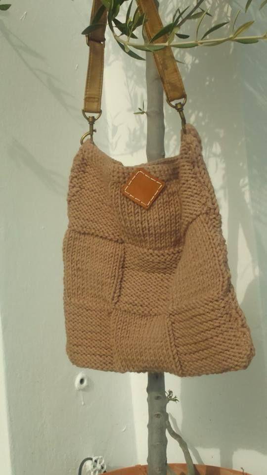Knitting bag. Easy pattern.