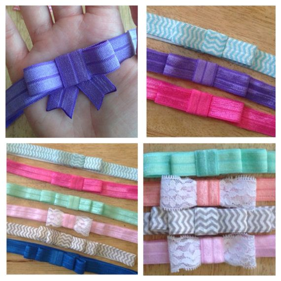 Baby Bow Elastic Headband Set  Pick Your by InADreamBoutique, $7.00