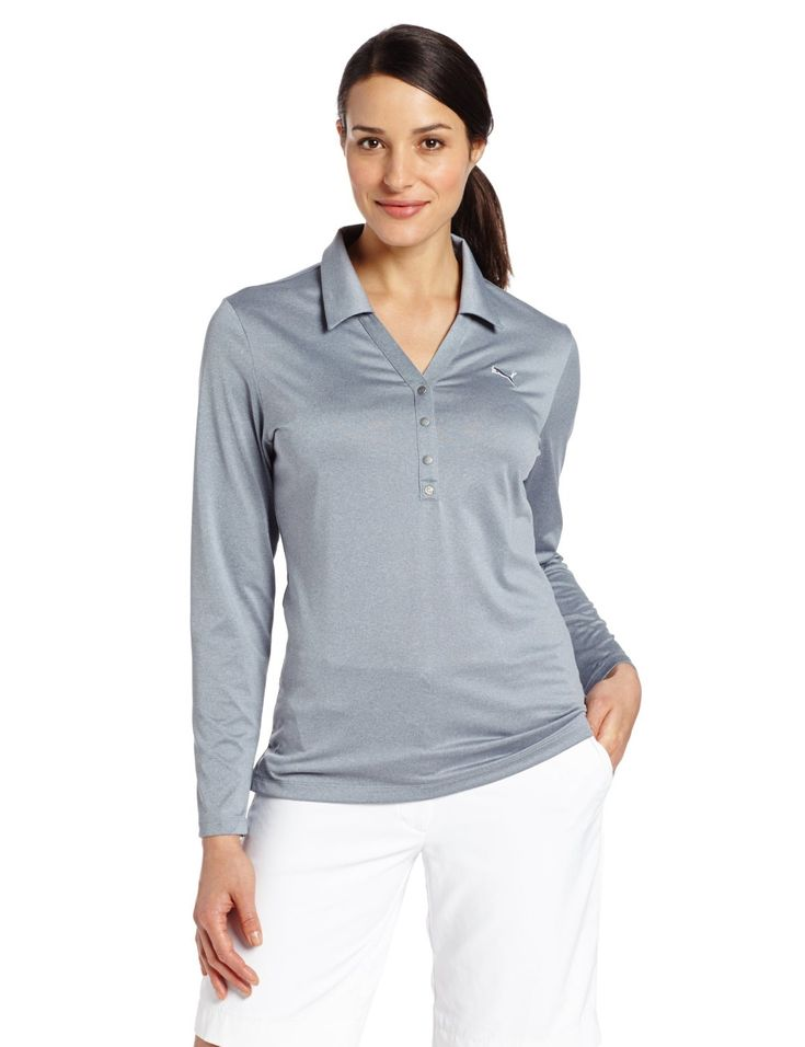 Featuring UV protection UPF 30+ this womens NA long sleeve golf polo shirt by Puma will keep you well protected from the elements