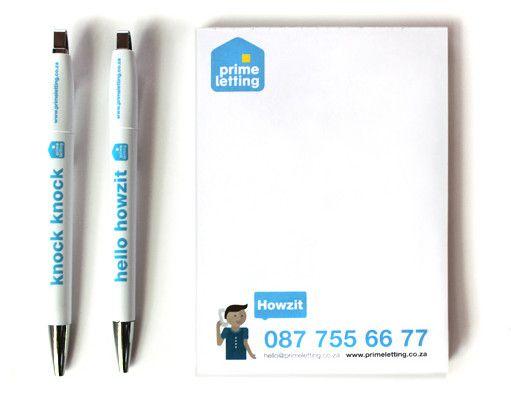Prime Letting Notepads Design. www.room13.co.za