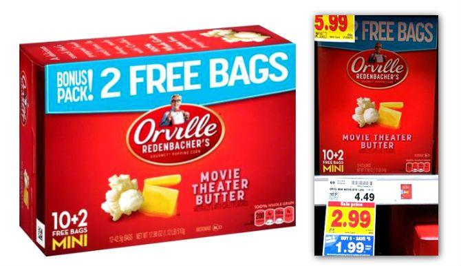 Free Orville Redenbacher's Popcorn at Kroger! Thru Jan 4th 2015.