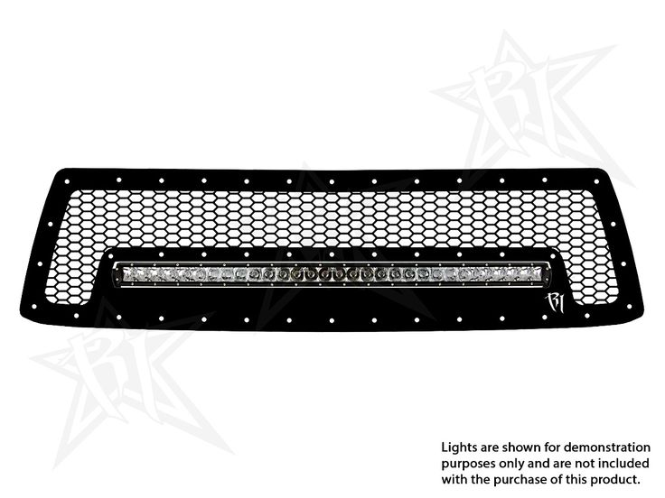 Rigid Industries® - Black Honeycomb Grille with LED