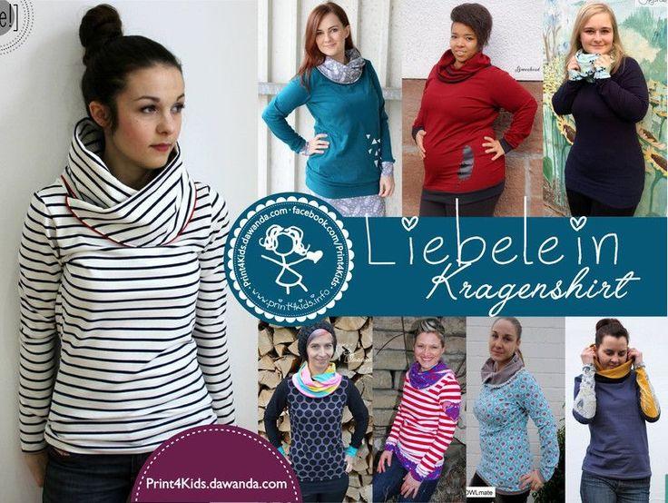 Nähanleitungen Mode - E-Book - Liebelein - Kragenshirt - ein Designerstück von Print4Kids bei DaWanda