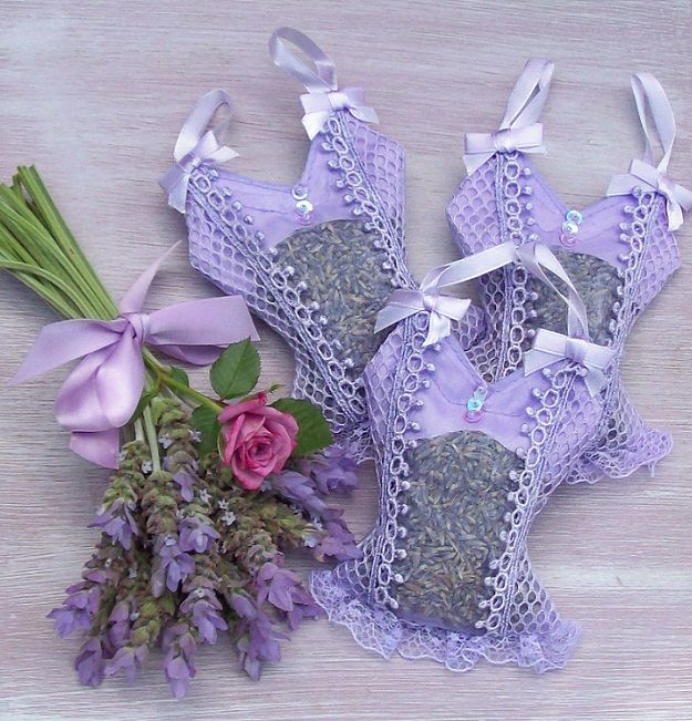 adorable corset lavender sachets #LovelyLavender