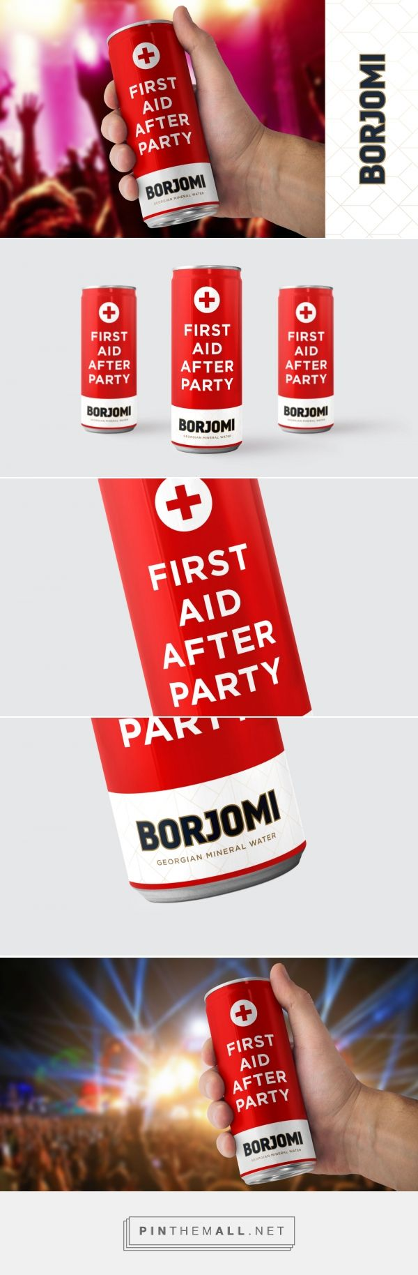 Borjomi First Aid After Party Packaging Design Inspiration First Aid Packaging Inspiration