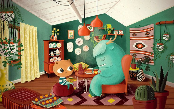 tea time, illustration, children book