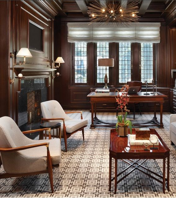 Great chairs. Such an elegant office space!