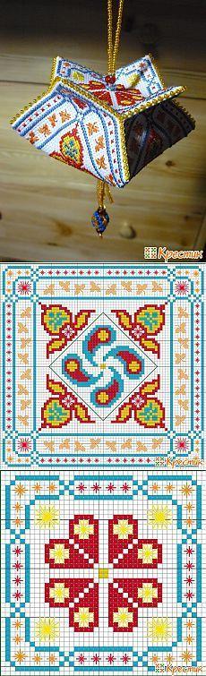 Схема вышивки крестом Кривулька-Тюльпан «Индия» (Бискорню и др. кривульки)