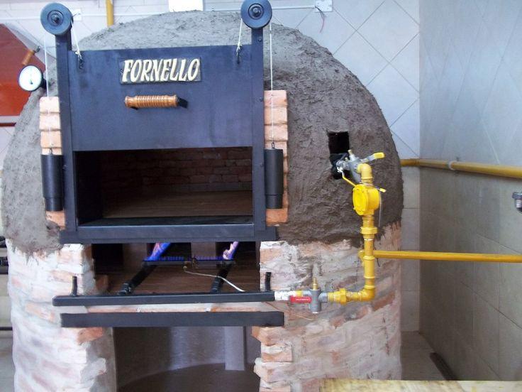 Horno de barro a gas y lle a pizzero gastronomico outdoors - Parrillas y hornos a lena ...