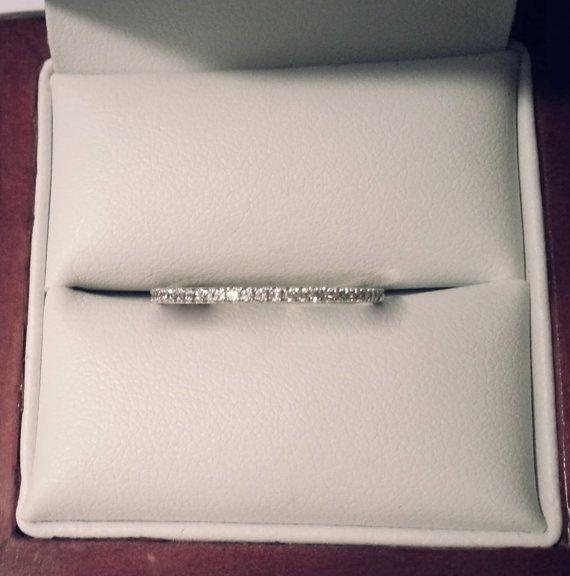 Micro pave diamond half eternity wedding band. by MichaelPatrickHogan on Etsy https://www.etsy.com/listing/153509625/micro-pave-diamond-half-eternity-wedding