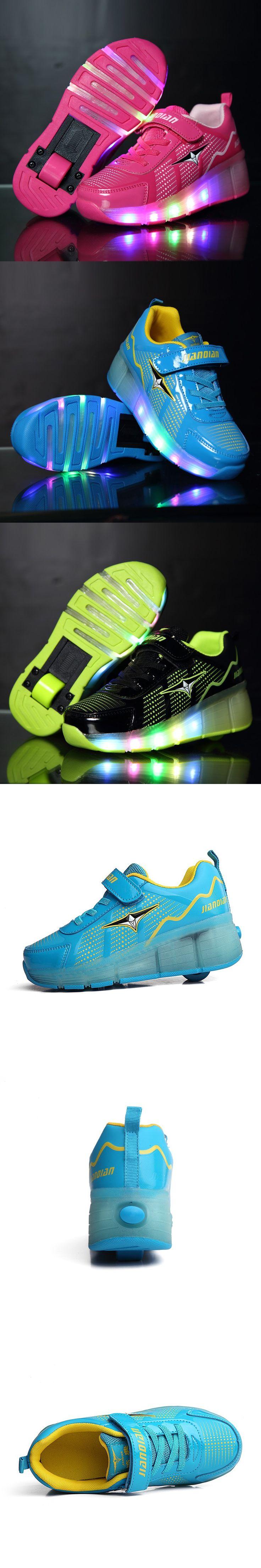 2016 Children Heelys Roller Sneaker With One Wheel LED Lighted Flashing Roller Skates Kids Boy Girl Shoes Zapatillas Con Ruedas