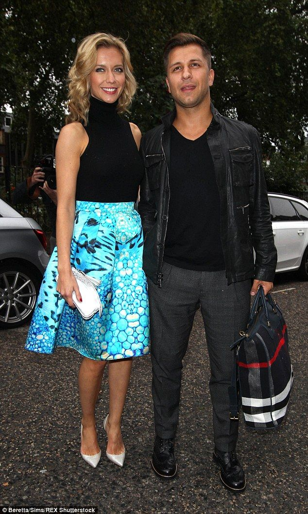 Rachel Riley cosies up to boyfriend Pasha Kovalev at book launch #dailymail
