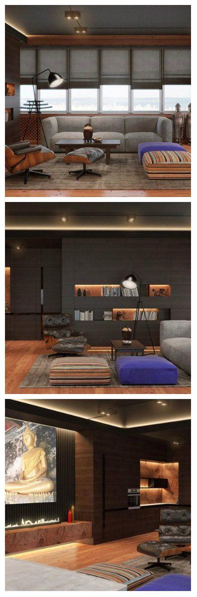 Уютная гостиная в офисном стиле была создана дизайнерами Soesthetic Group Design. Дело в том, что помещение на самом деле используется для деловых приемов. Современный дизайн приветствует офисные помещения с одомашненной стилистикой. Здесь можно не только комфортно работать, но и жить. #освещение #подсветка #светодиоды #дом #гостиная #кухня #светодиодноеосвещение #светодиоднаяподсветка #ремонт #дизайн #интерьер #дизайнквартир #дизайнинтерьера #дизайнсвета #дизайнгостиной  #светильники #свет