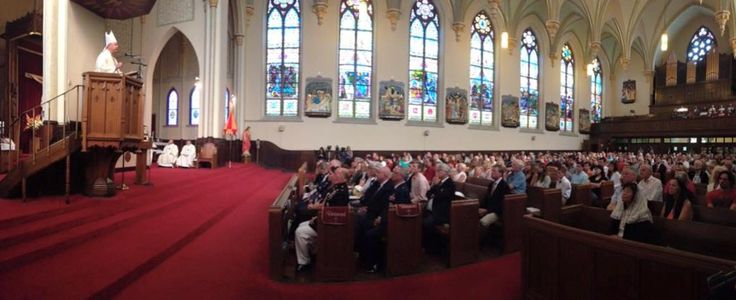 The church pews are packed all over Chattanooga this morning. This is the Basilica of Saints Peter & Paul in Chattanooga this morning where Bishop Richard Stika spoke. From WRCB Channel 3 Eyewitness News