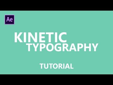 How to Make cool Kinetic typography intro for YouTube in After Effects -- Tutorial Motion Graphics - YouTube