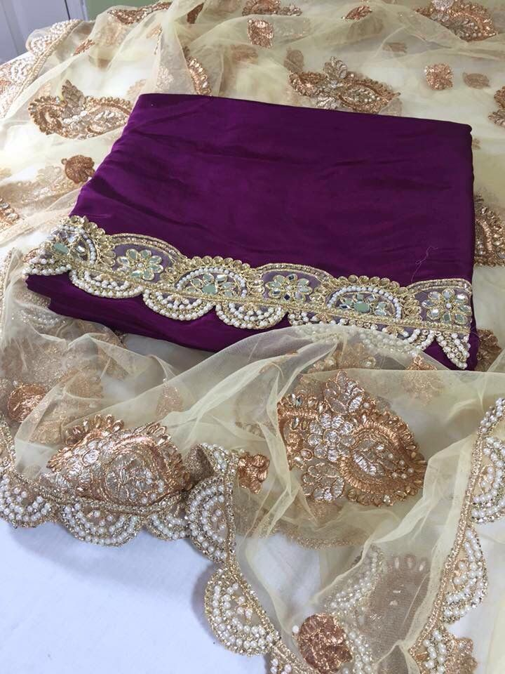 This shade of purple is perfection! Love it paired with this versatile dupatta!