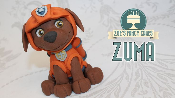 Zuma cake topper paw patrol fondant cake ideas
