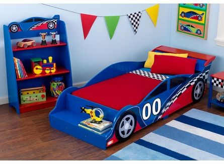 Racecar Toddler Bed by KidKraft, Beds, Furniture for Boys