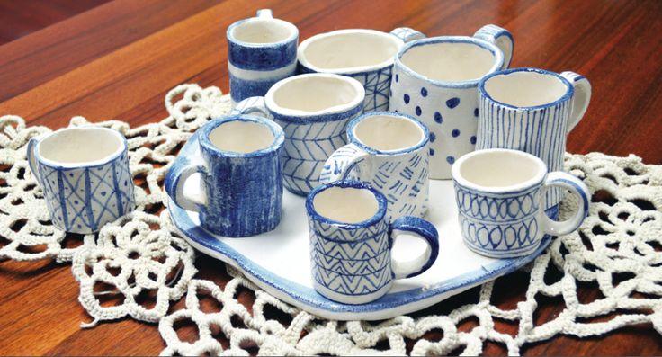 Maiolica centerpiece, design by Atelier Daniela Levera, centro de mesa en cerámica diseño made in italy, ceramic centerpiece