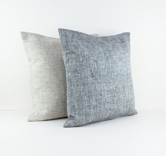 Natural linen pillow covers  Set of two by LinenandStripes on Etsy