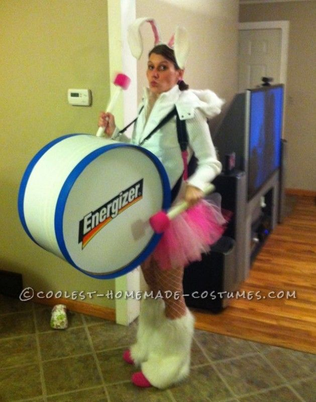 Cool Homemade Energizer Bunny Costume