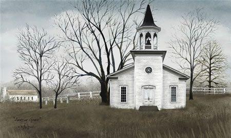 love white country churches