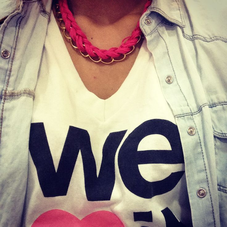 We heart it + necklace