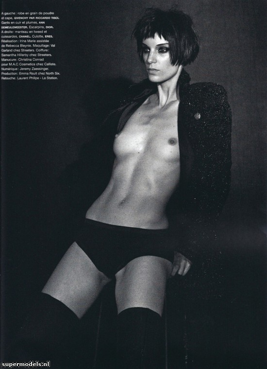 Iris Strubegger in 'Smoke Gets in your Eyes' - Photographed by Peter Lindbergh (Numéro #116 September 2010)