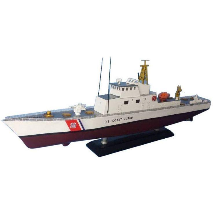 Wooden United States Coast Guard USCG Coastal Patrol Model Boat Limited 18 inch