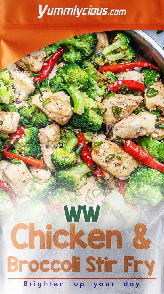 Weight Watchers Chicken Broccoli Stir Fry Yummlycious As You