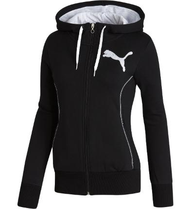Puma Fleece Hooded Sweat Jacket | Women - from the official Puma® Online Store  $55  Black/ white Small
