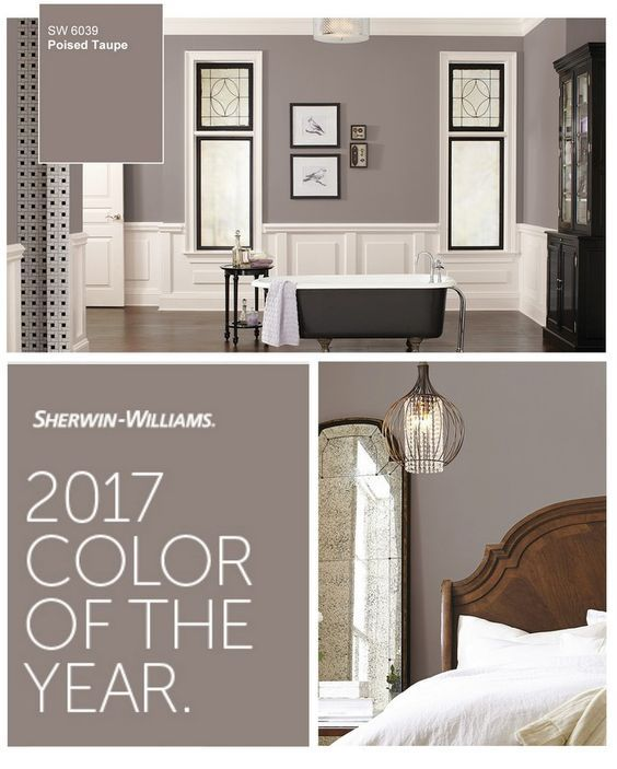 2017 Sherwin Williams Color of the Year. Poised Taupe-bedroom