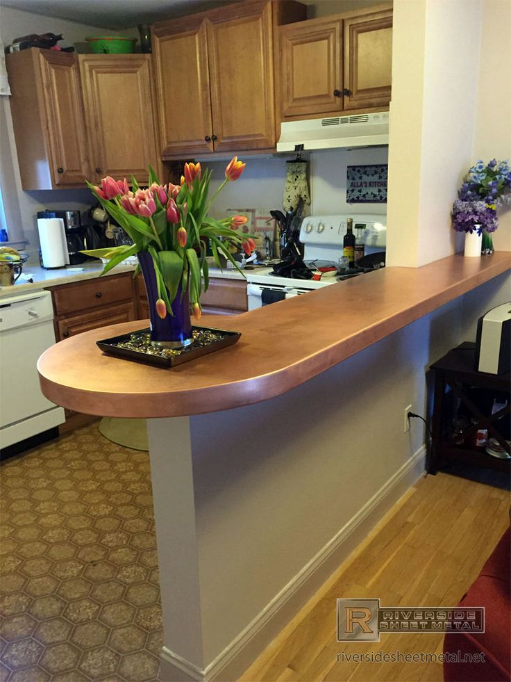 Riverside Sheet Metal Specializes In The Fabrication Of Copper Counter Tops  And Backsplashes.