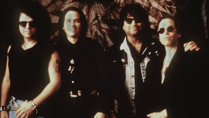 Toto band members Steve Lukather, MIKE PORCARO, David Paich and Simon Phillips in 1998