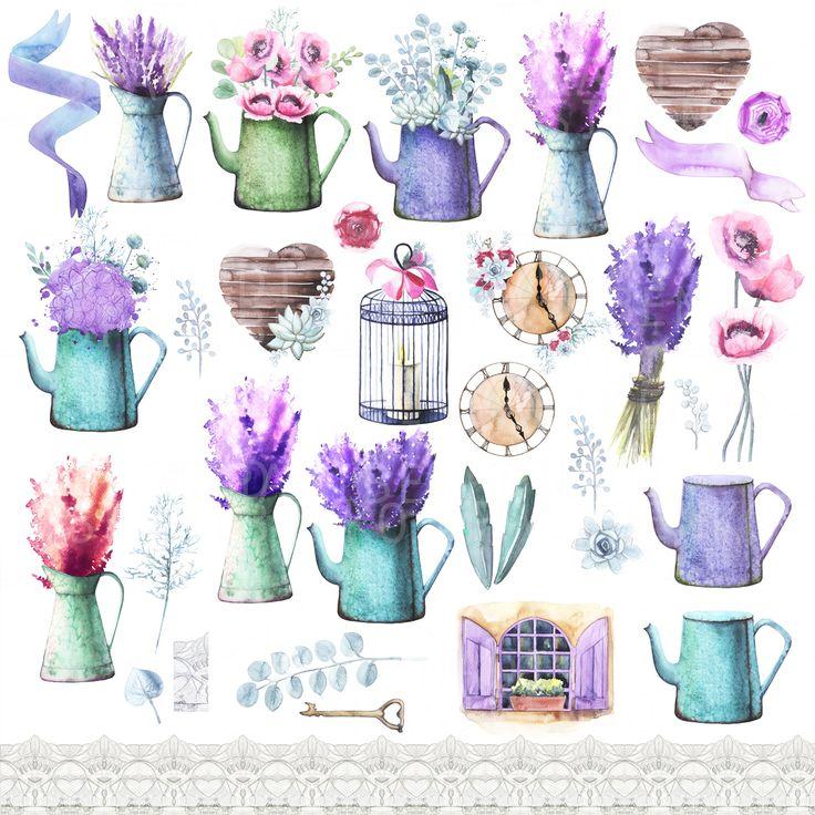 Watercolor Provence decor ~ Illustrations on Creative Market