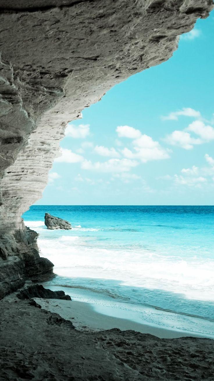 Natural Beach Hole Wallpaper Iphone7 スマホ壁紙 待受画像
