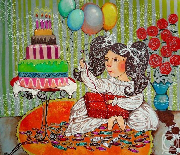 Ольге, красивые поздравительные открытки художнице