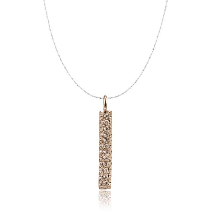I's Crystal Silver Prayer Box Necklace