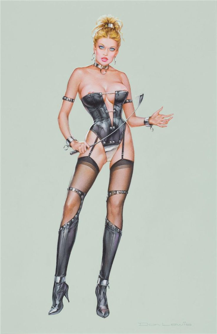"""Dominant presence - Illustration by Don Lewis - Board """"Art - Corsets"""" -"""