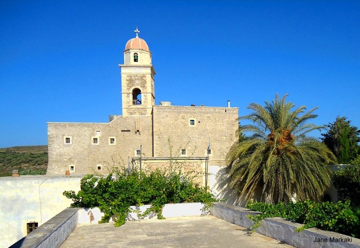 Toplou monastery in Sitia Crete!  Discover the authentic Crete! Photo Taken By :Jane Markaki