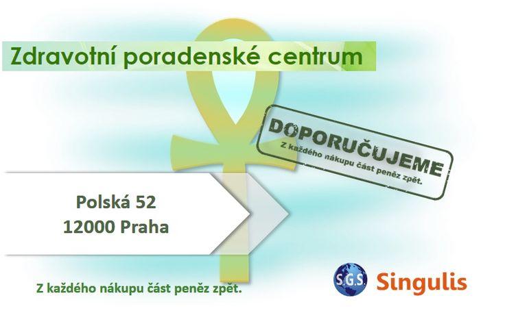NOVÝ OBCHODNÍ PARTNER V PRAZE  ZDRAVOTNÍ A PORADENSKÉ CENTRUM   Projít naším zdravotním poradenským centrem znamená, přiblížit se k absolutnímu zdraví na všech úrovních.  http://www.singulis.cz/pages/obchodnik.aspx?cla_id=48176