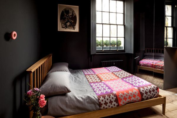 Refurbished Flat in Islington by Architecture for London in main interior design  Category << black bedroom