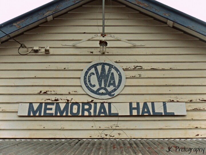 CWA Memorial Hall • country women's association Australia building of galvanised iron and weatherboard