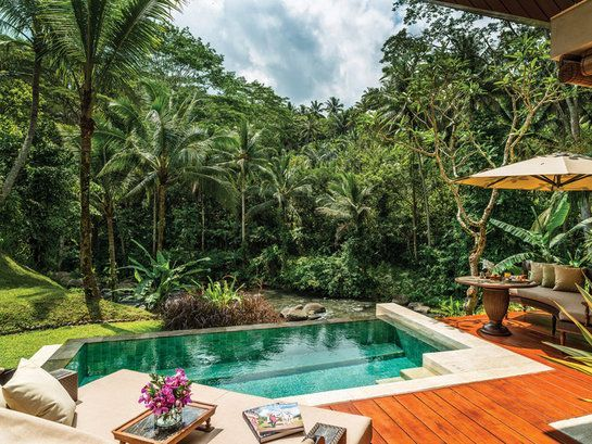 Four Seasons Resort Bali At Sayan Indonesia Honeymoon Jungle Luxury Pool Tree Swimming
