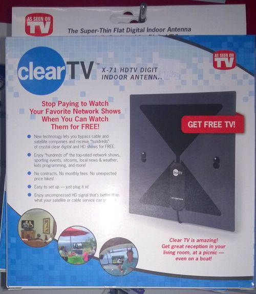 Review: Clear TV Is An HDTV Digital Antenna, Advertised As