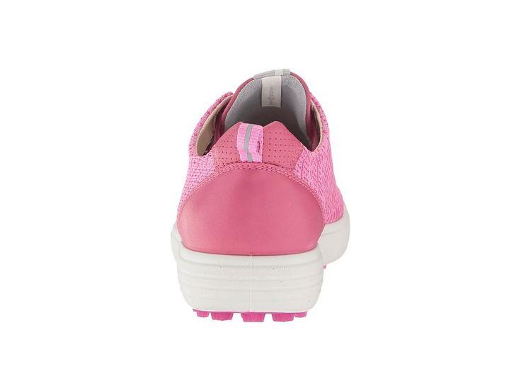 ECCO Golf Casual Hybrid Knit Women's Golf Shoes Pink/Beet Root/Fandango #GolfShoes