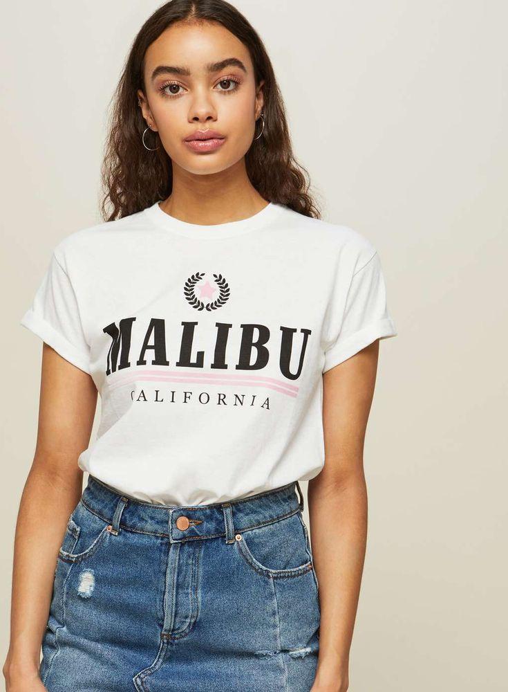 PETITE Malibu Slogan T-Shirt - View All - Clothing - Miss Selfridge